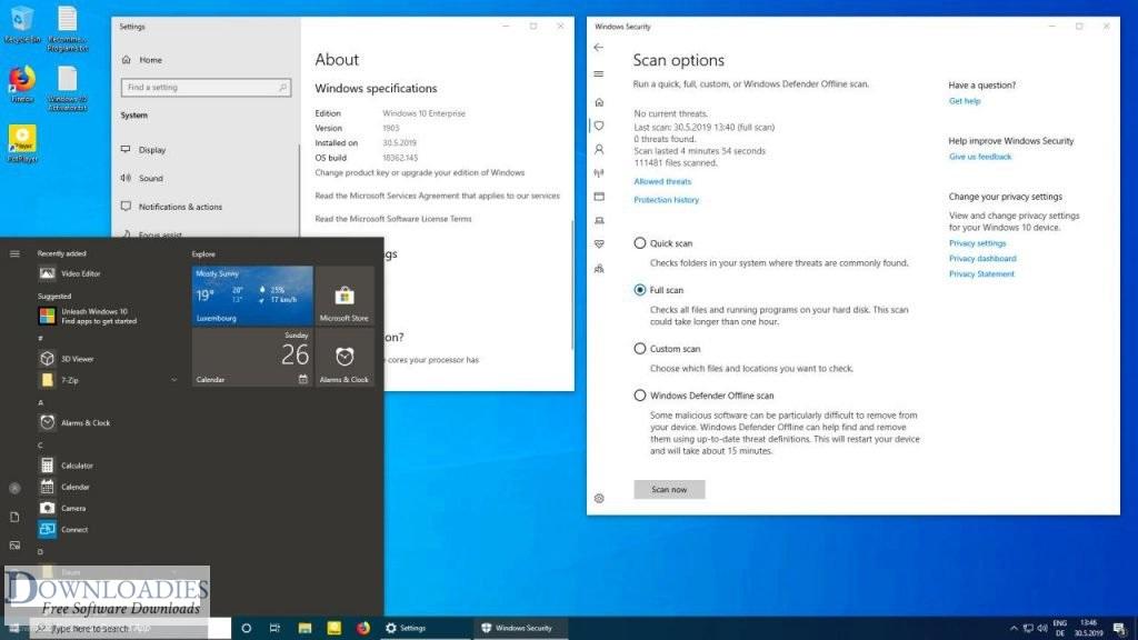 Free Download Windows 10 Home Pro Enterprise
