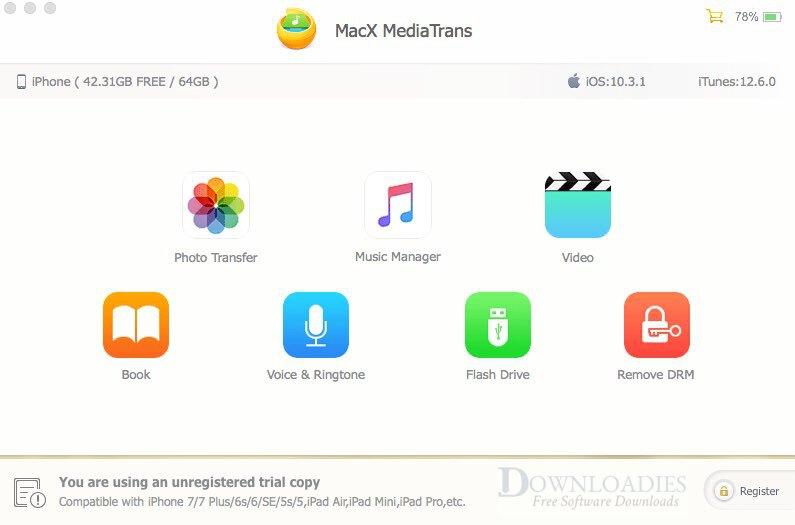 Free Download MacX MediaTrans 6.7 for Mac downloadies