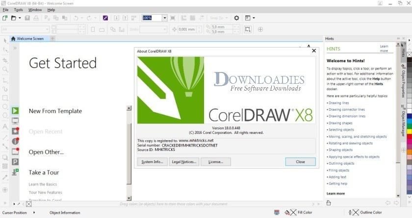 Corel DRAW graphics suite X8 Free Download