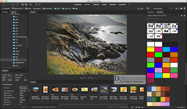 Adobe Bridge CC 2019 v9.0 for Mac Free Download