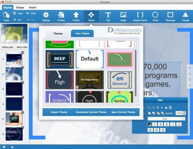Focusky Presentation Maker Pro 2.8 for Mac free download