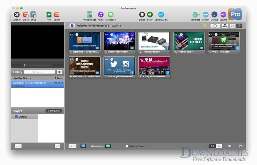 ProPresnter 6.3 for Mac Free Download