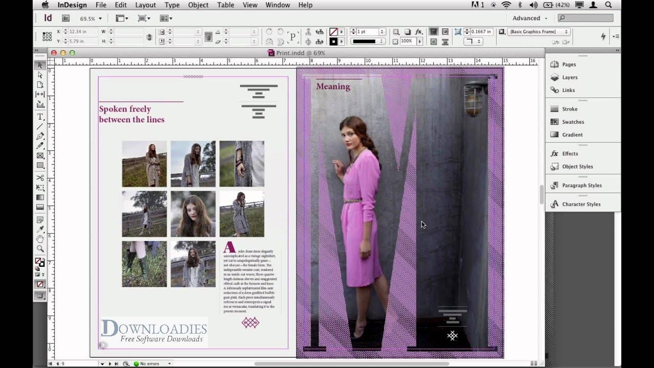 Adobe InDesign CS6 for mac free download