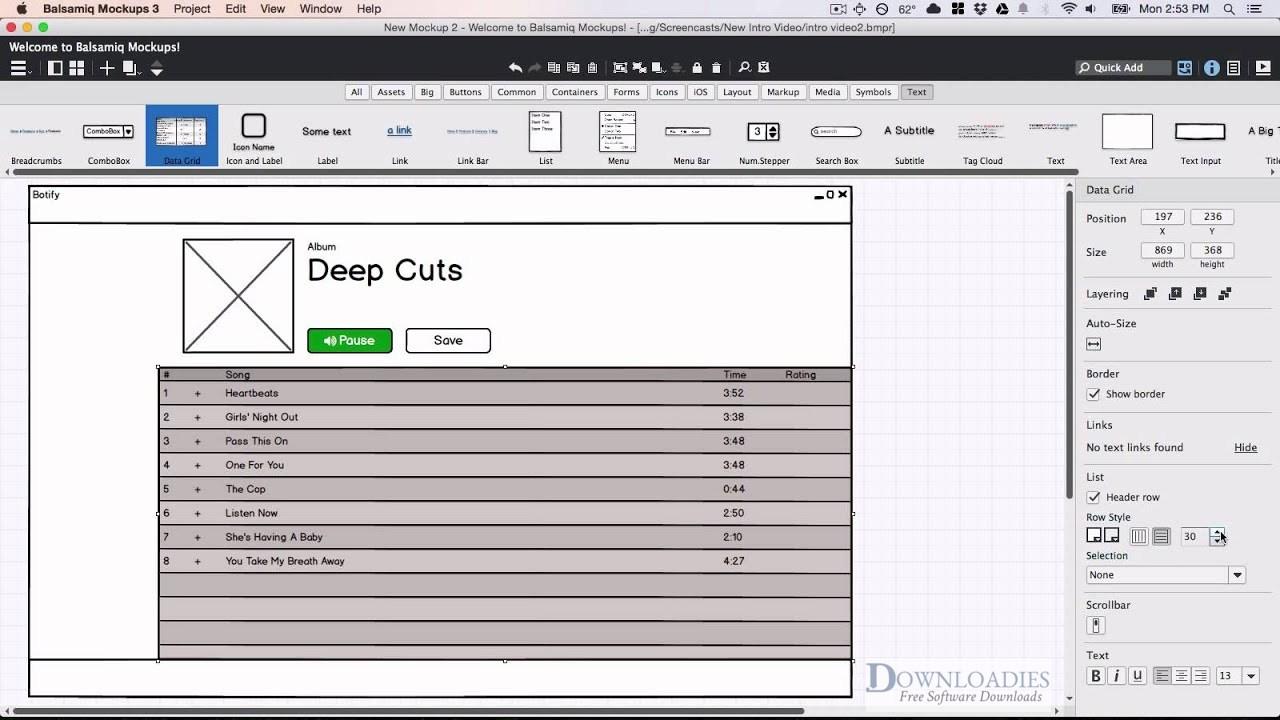 Balsamiq Mockups 3.5 for Mac Free Download