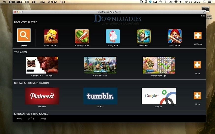 BlueStacks App Player 4.50 for Mac