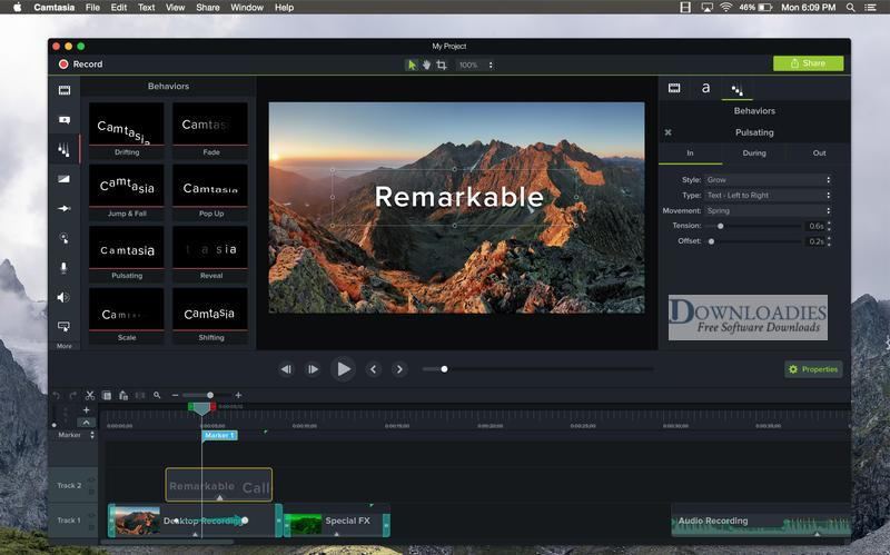 Camtasia 2018 for Mac Free Download