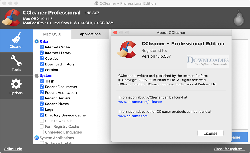 Download CCleaner Professional 1.5 for Mac Free