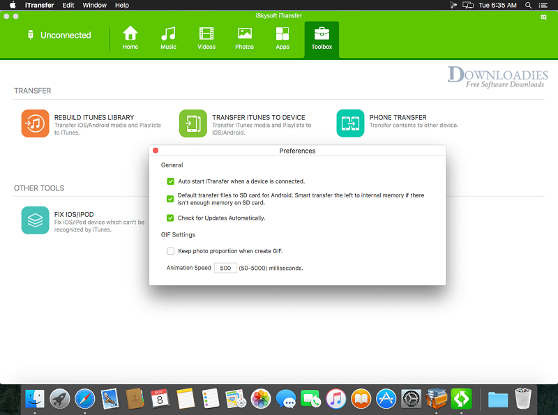 Download iSkysoft iTransfer for Mac