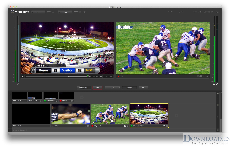 Telestream Wirecast Pro 11.1 for Mac download free