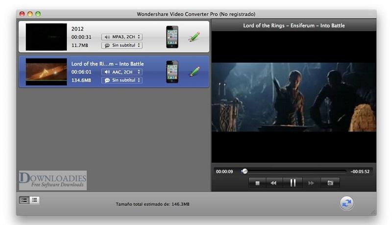Wondershare Video Converter Ultimate 10.3 for Mac Free Download