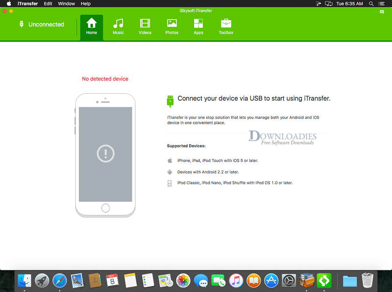 iSkysoft iTransfer for Mac Free Download