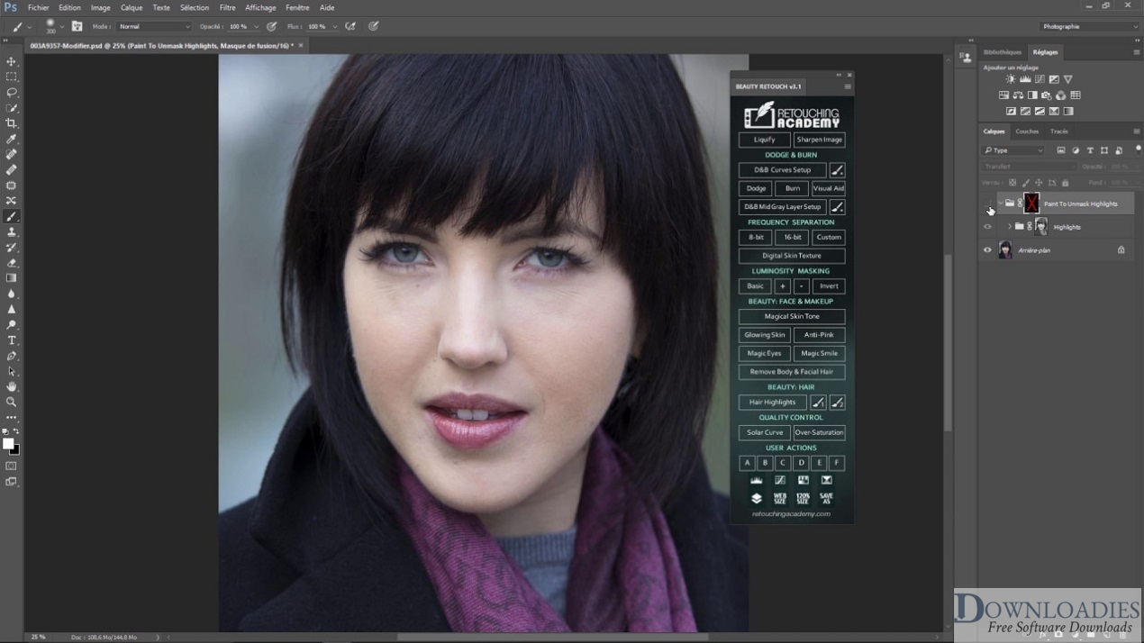 Delicious Retouch Panel Photoshop Plugin for Mac free download