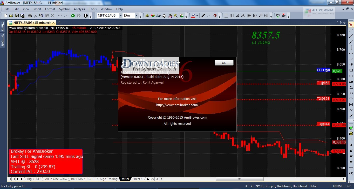 Download AmiBroker Professional Edition free