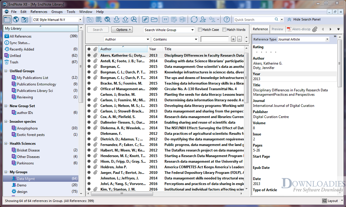 Download EndNote 2019 X9 for Mac free