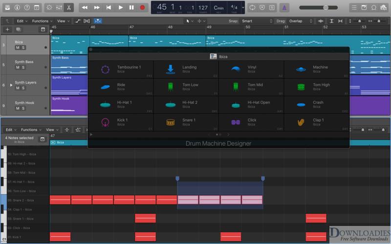 download Apple Logic Pro X 10.4.5 for Mac free @downloadies.com