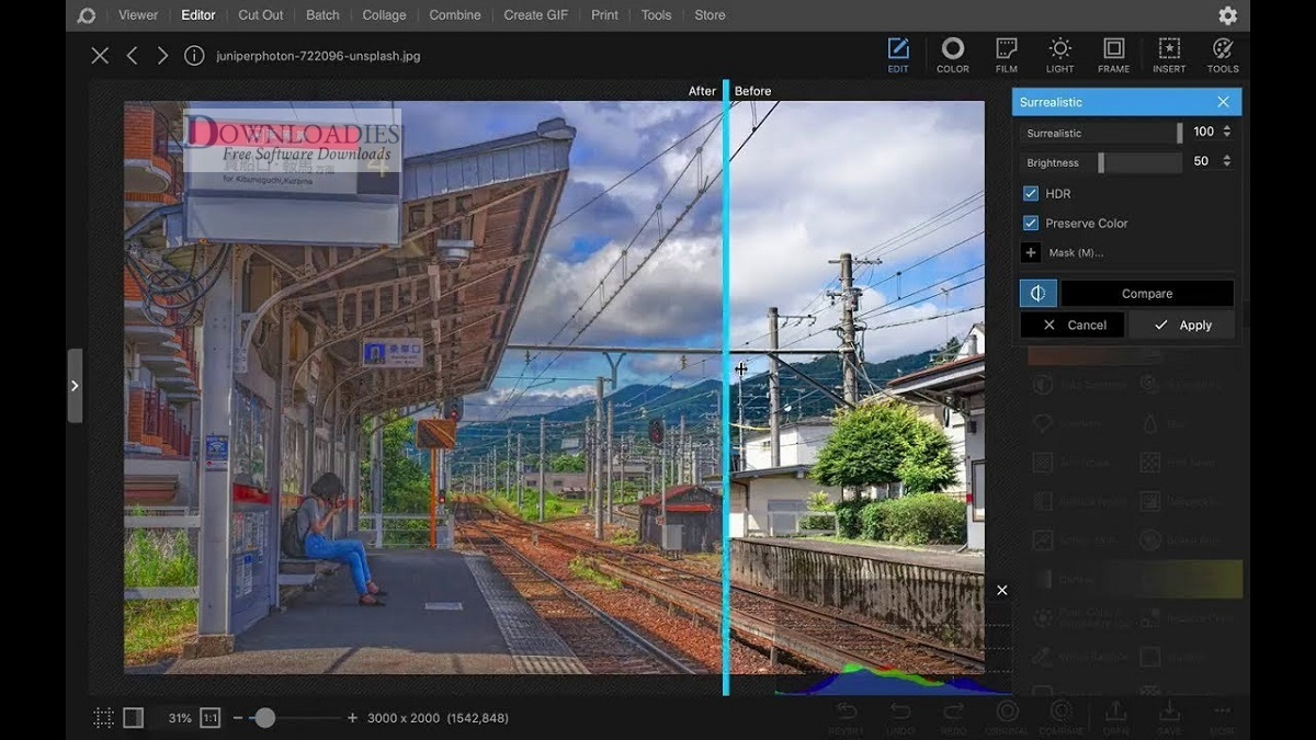 Free Image video Editor Croping PhotoScape X Pro 3.0 for Mac downloadies