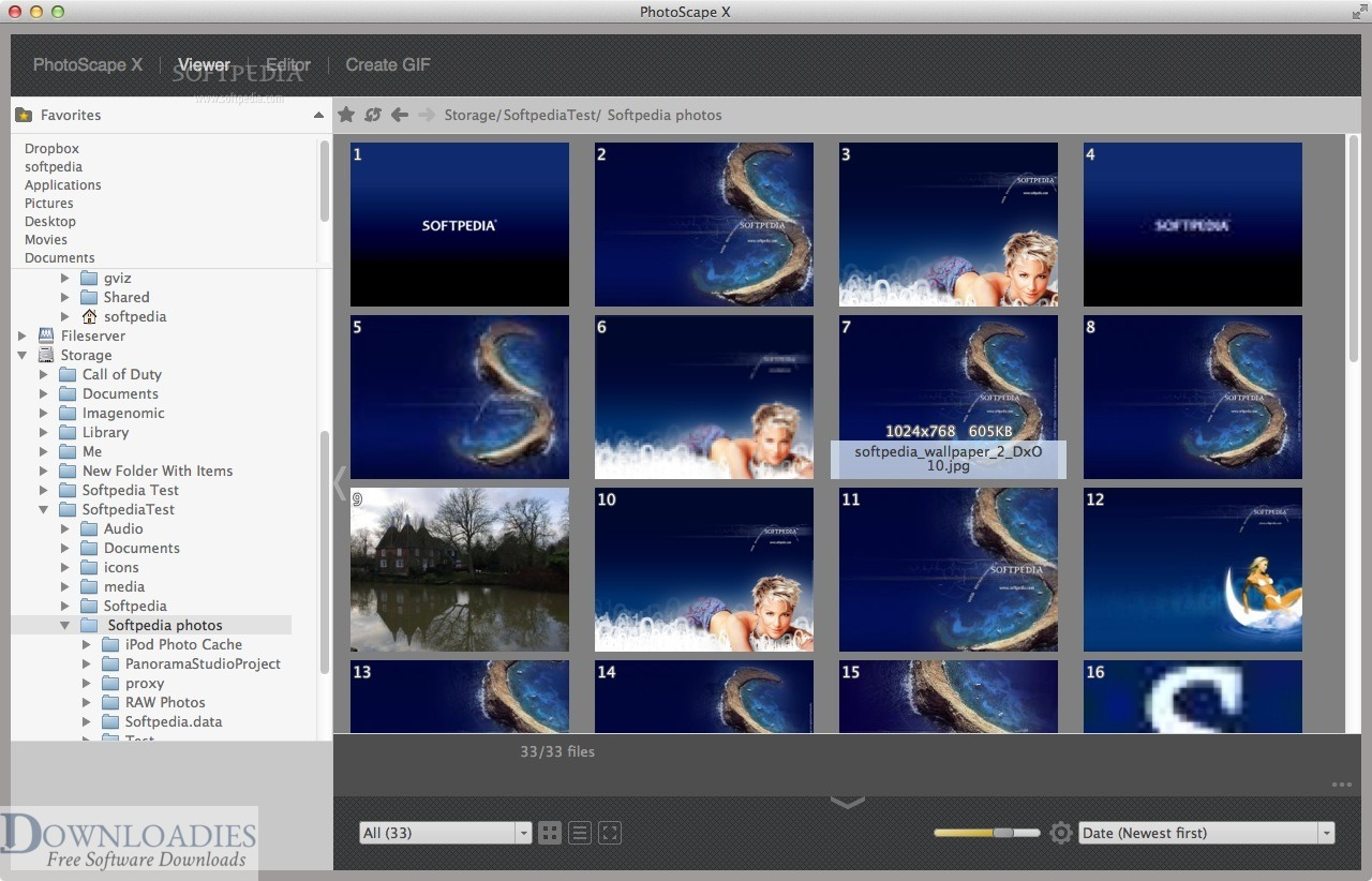 Free Photo Editor Croping PhotoScape X Pro 3.0 for Mac downloadies