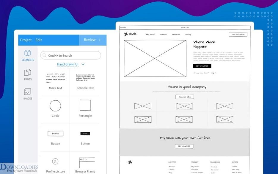 Mock up free designing, Wie frames and User Interface designing, UI UX designing software