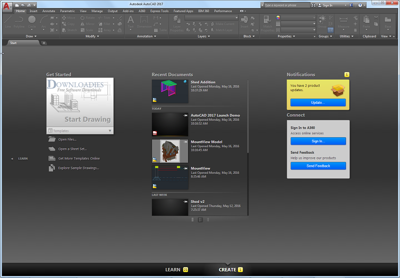 Autodesk portátil - AutoCAD-2017-Direct-Link Downloadies.com
