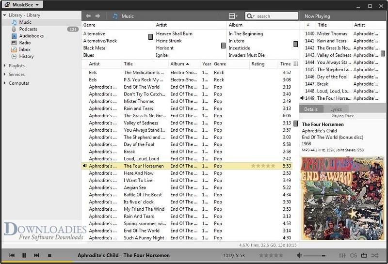 Portable-MusicBee-3.3 Downloadies