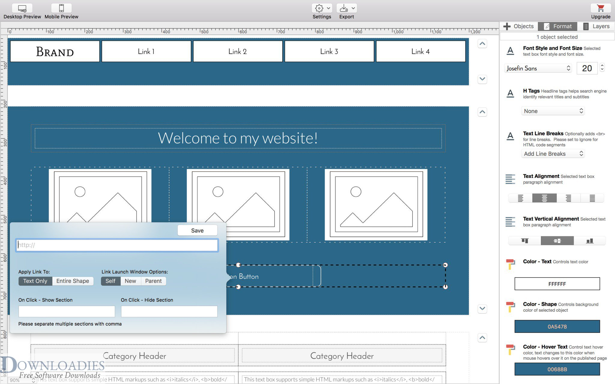 Wolf Landing Page Designer 1.3 for Mac downlload free