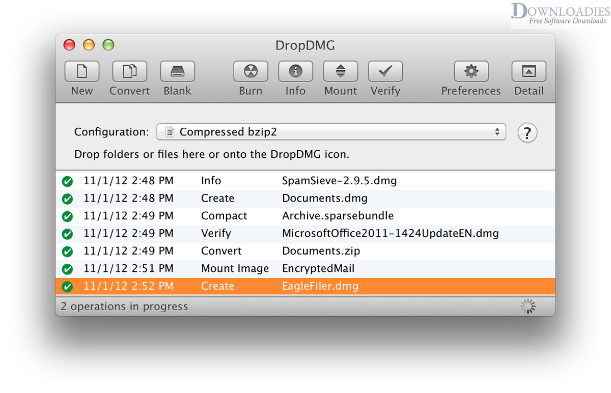 Free DropDMG 3.5 for Mac download downloadies