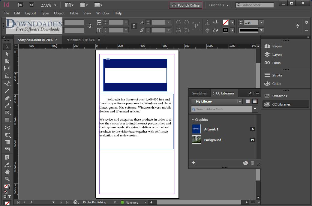 Adobe InDesign CC 2018 13.0 for Mac free Download downloadies