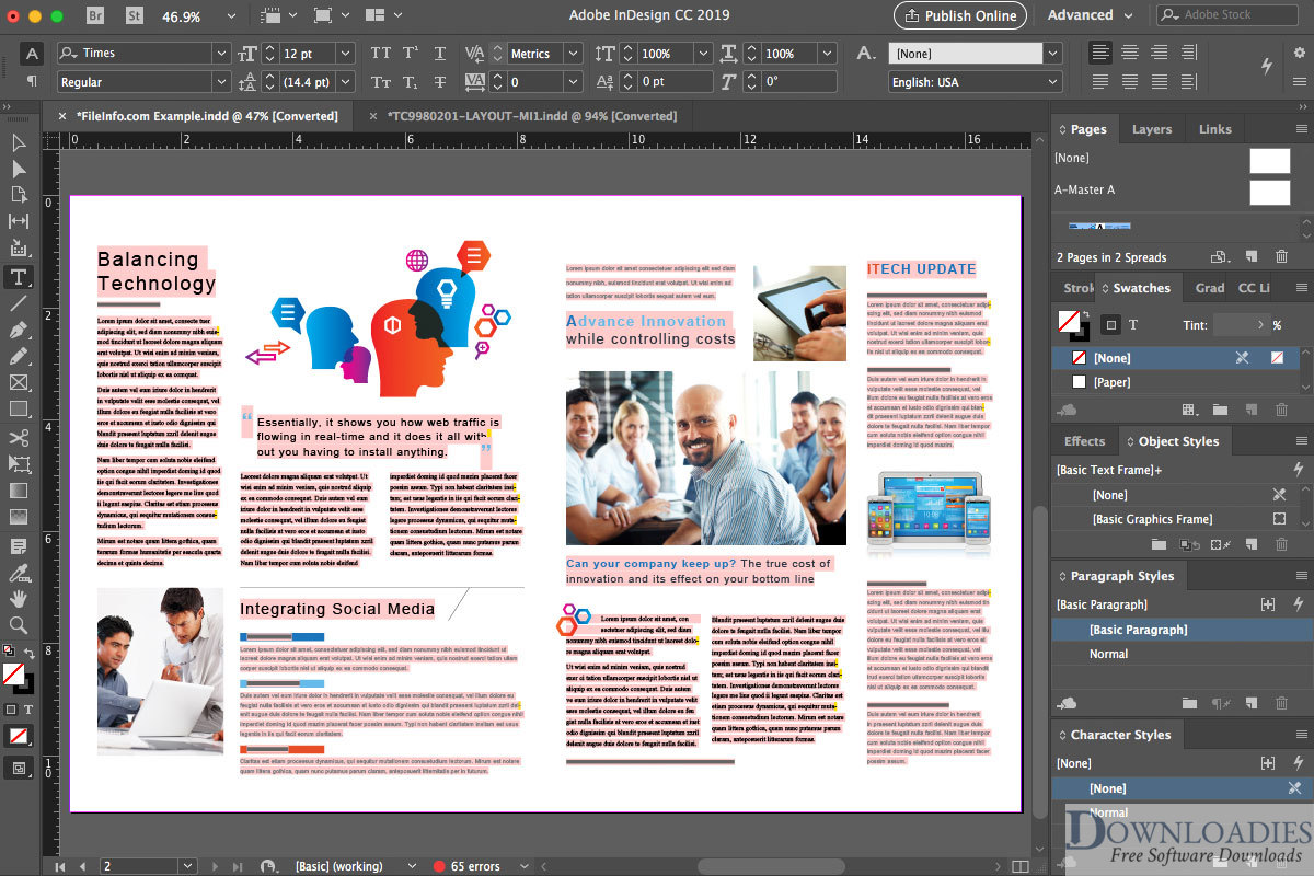 Free Adobe InDesign CC 2018 13.0 for Mac Download downloadies