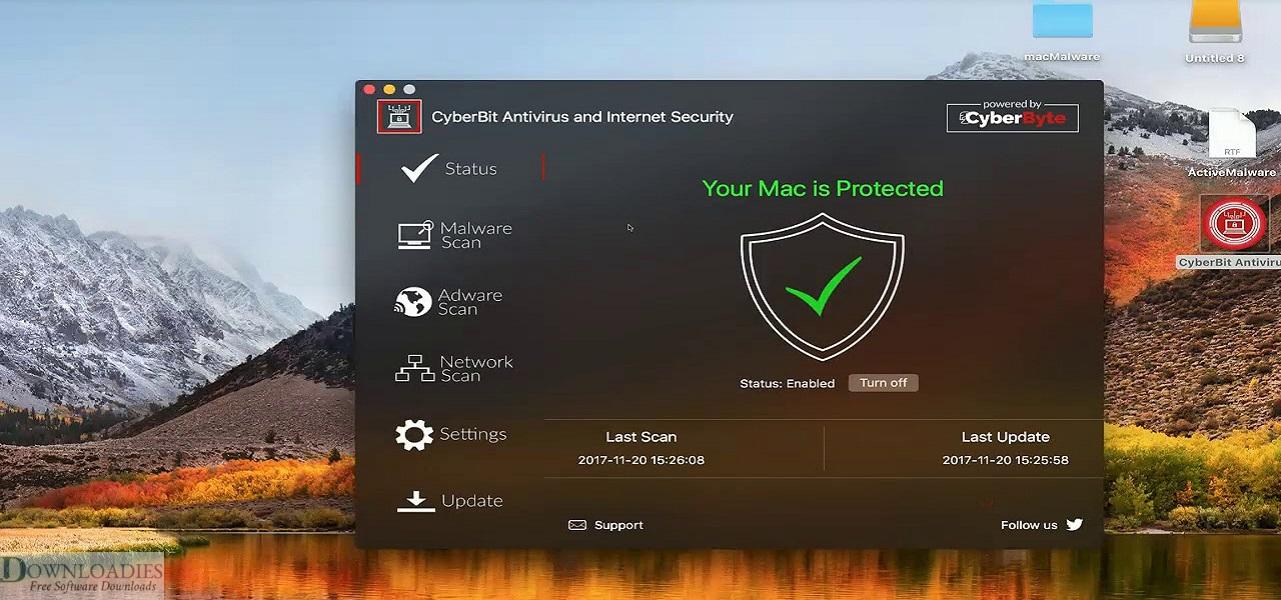 Free Antivirus CyberByte Pro 3.4.1 for Mac Download downloadies