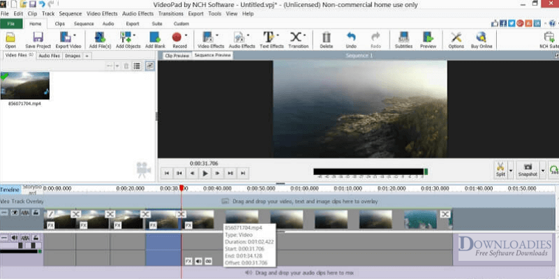 Free Download NCH VideoPad Pro 7.33 for Mac downloadies
