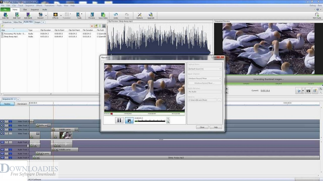 Free NCH VideoPad Pro 7.33 for Mac Download downloadies