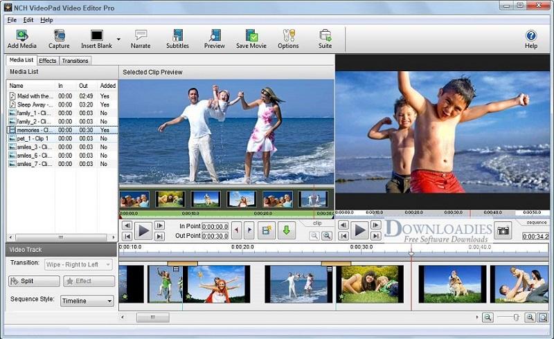 NCH-VideoPad-Pro-7.34-Downloadies