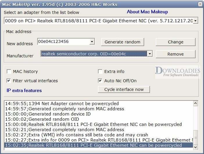 Download Technitium MAC Address Changer 6.0.7 for Windows free