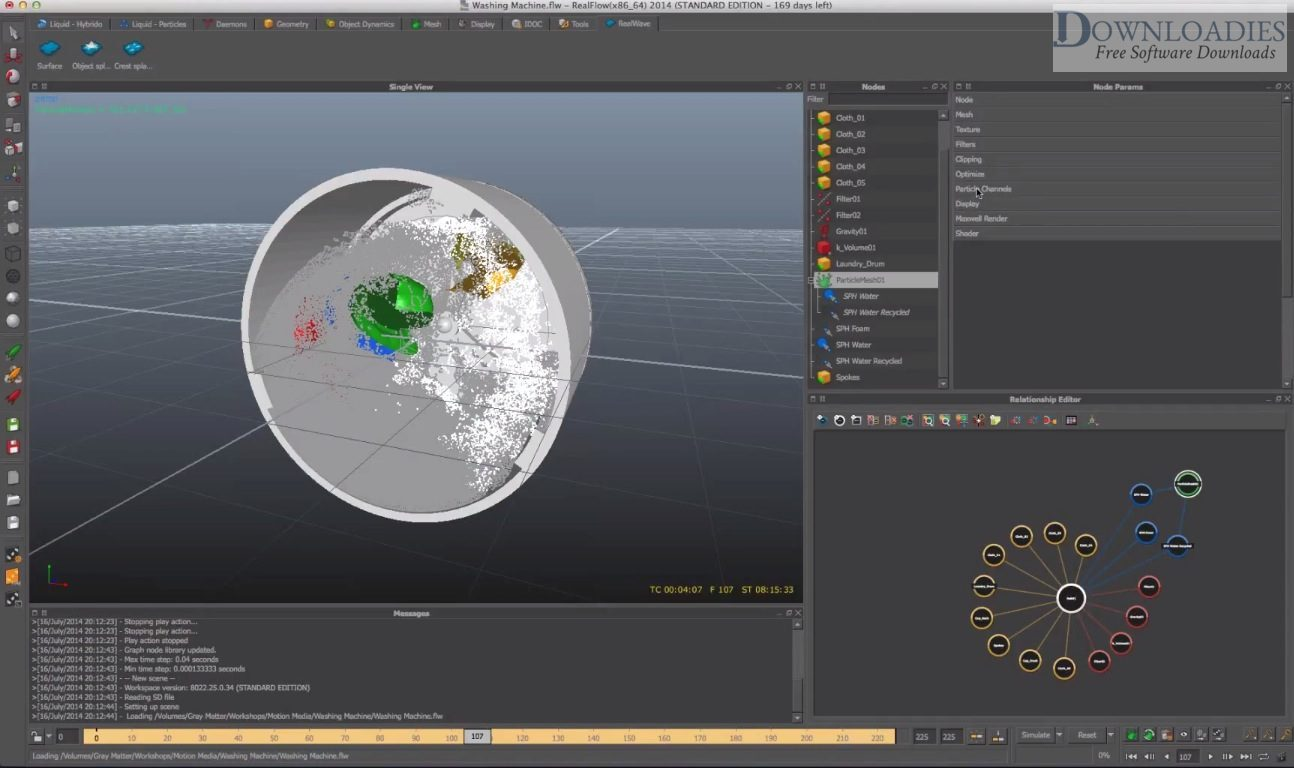 Download fre RealFlow Cinema 4D 2.0.1 for Mac