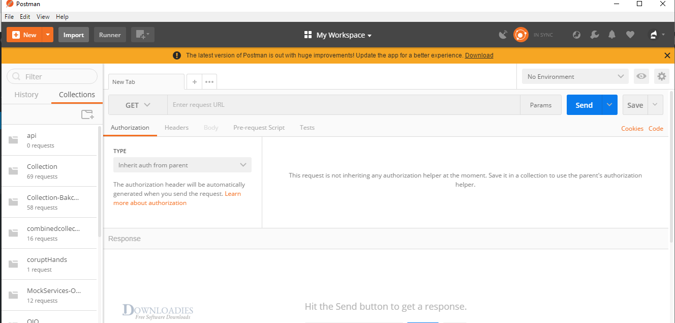 Postman 7.2.3 for Mac API testing Rest client
