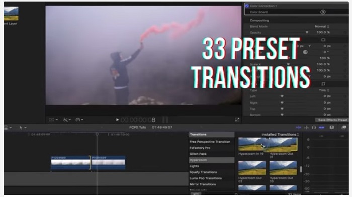 Hyper Zoom Transitions - Final Cut Pro X for Mac Free Download