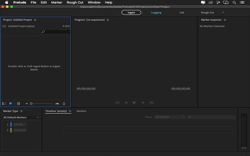 Adobe-Prelude-for-macAdobe-Prelude-for-mac