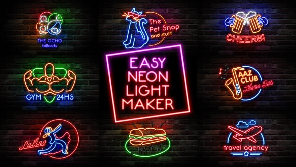 Videohive-Easy-Neon-Lights-Maker-Free-Download